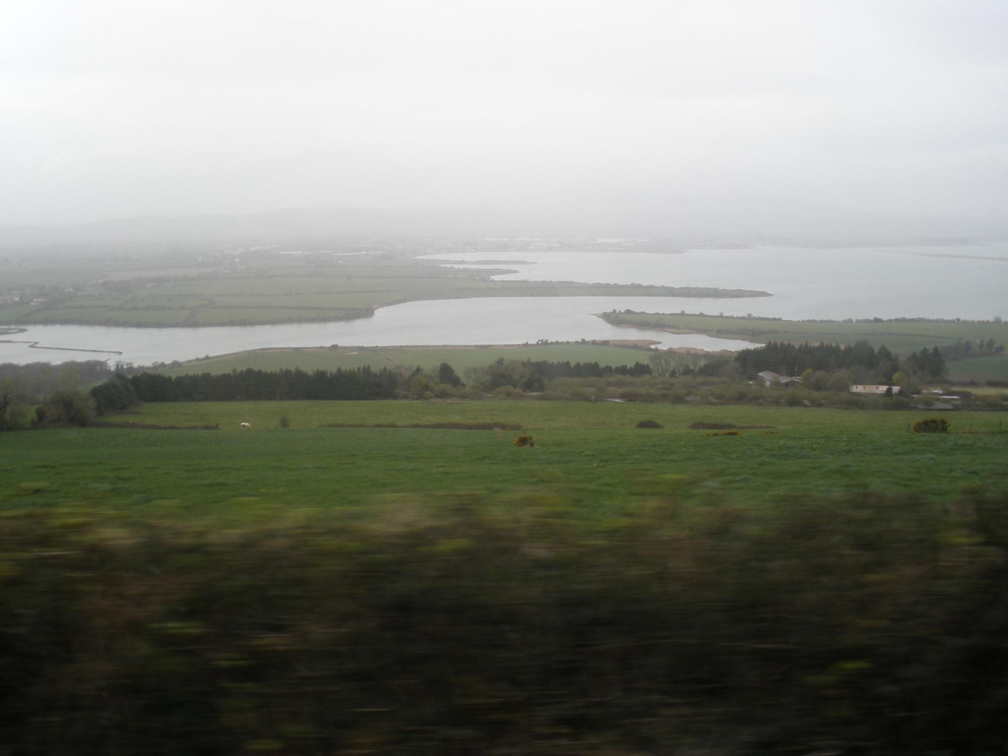 Bus window view